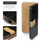 Samsung Galaxy S9 - Klassisk Slank Design Lommebok - Black /Tan thumbnail