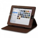 Crossstich Folio Case for iPad 3 / 4 - Chocolate thumbnail
