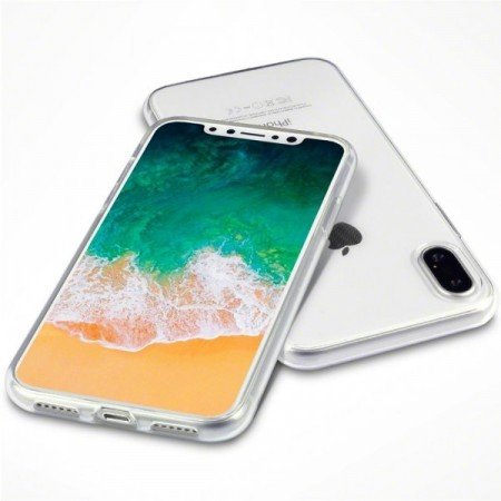 Apple iPhone X - Helt Gjennomsiktig TPU/Silikon Deksel - Transparent
