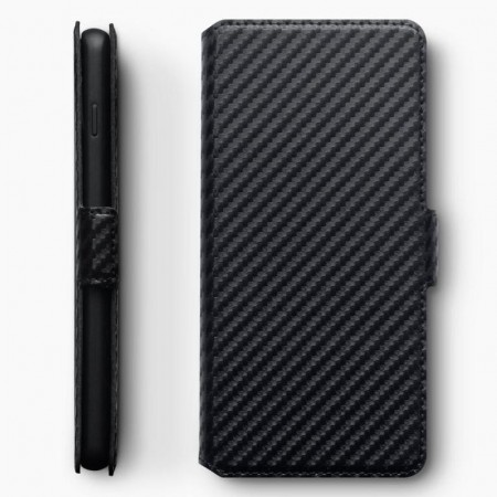 Samsung Galaxy S10- Carbon Fibre Texture Cover - Black