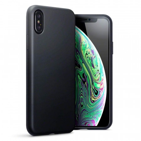 Apple iPhone XS -  Slank Design TPU/Silikon Deksel- Matte Black