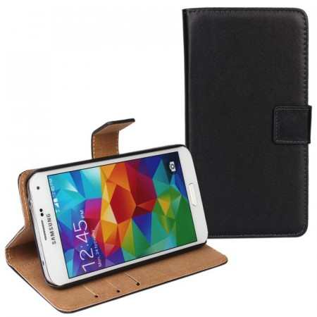 Samsung Galaxy S5 - Klassis Slank Design Lommebok Etui - Black and Tan