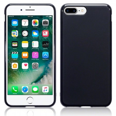 Apple iPhone 8 Plus -  TPU /Silikon Deksel - Svart