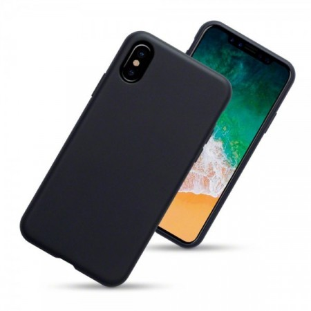 Apple iPhone X  - Super Slank TPU Deksel - Matte Black