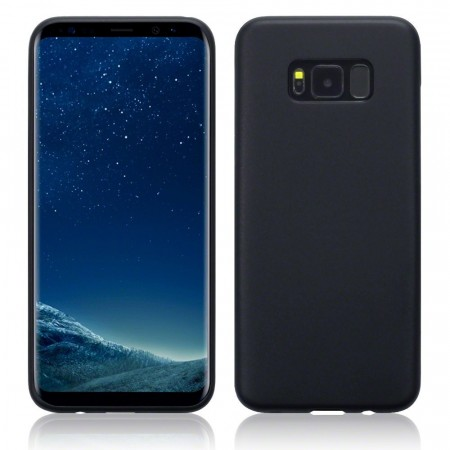 Samsung Galaxy S8 PLUS TPU Gel Cover -  Black Matte