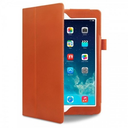 Apple iPad Air - Premium PU Lær Cover - Orange