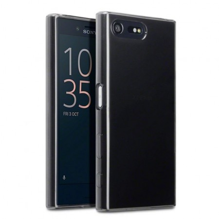 Gel Cover Til Sony Xperia X Compact - Smoke Black