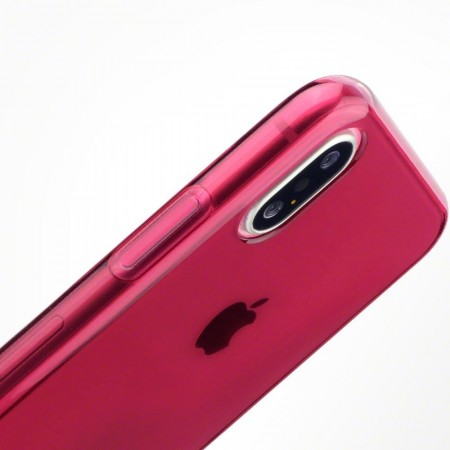Apple iPhone XS - Fleksibelt TPU/Silikon Deksel - Rød